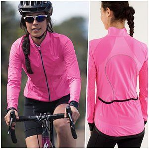 Lululemon Rain Wind Cycling Jacket Pink 6 NWOT